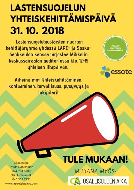 Lastensuojelun yhteiskehittämispäivä 31.10.2018