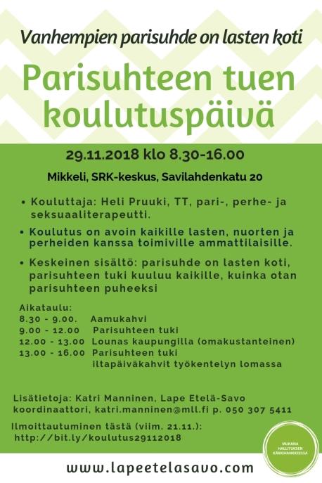 Parisuhteen tuen koulutus 29.11.