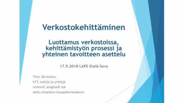 Timo Järvensivu 17.9.